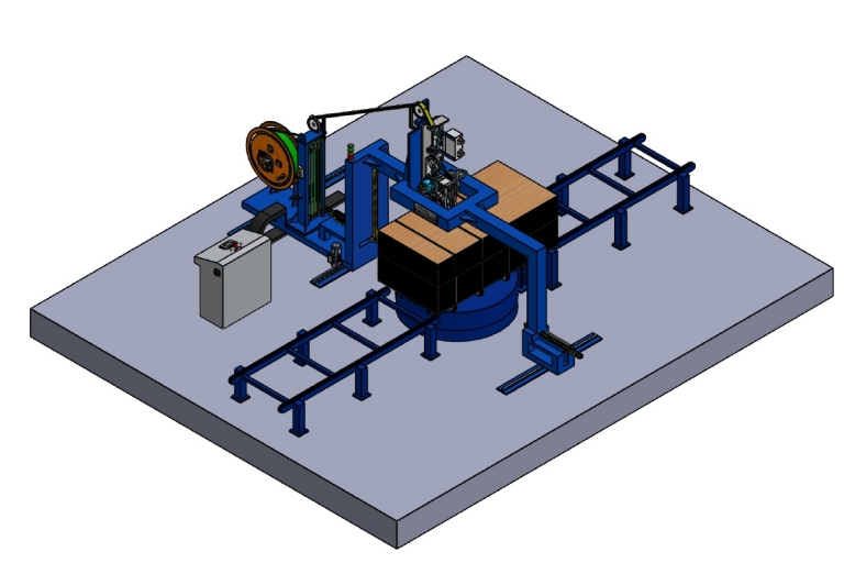 Automatic Strapping Line for wooden packages