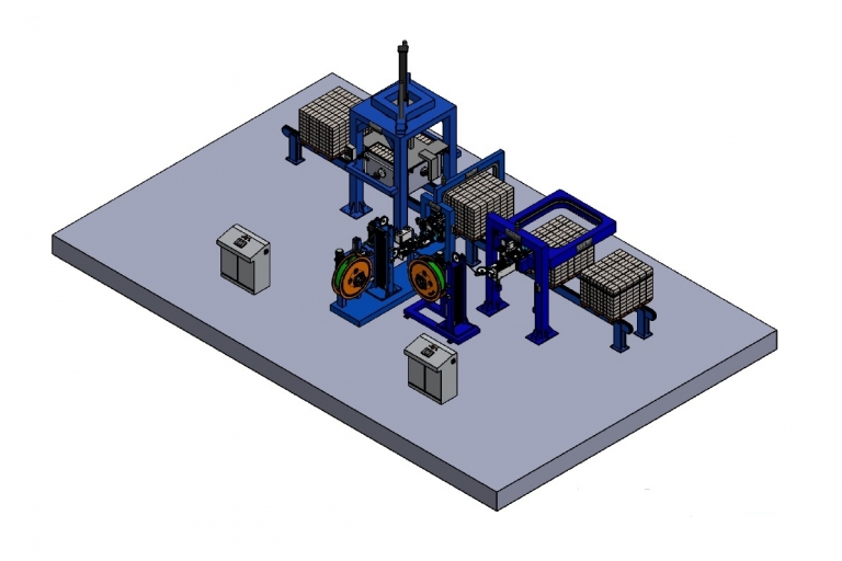 Automatic Strapping Line for construction material