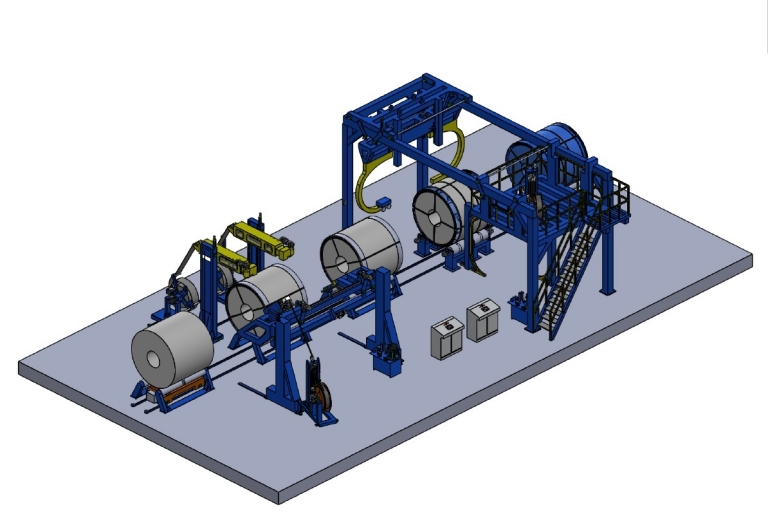 Complete Automatic Packaging Line for coils