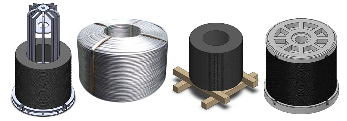 Type of pallet or coil spool